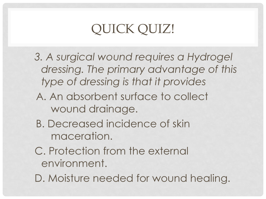 Infection Prevention and Control | Slide 64 | Top Hat